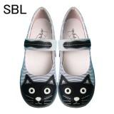 女裝便鞋 - 黑貓頭 - 23.5cm