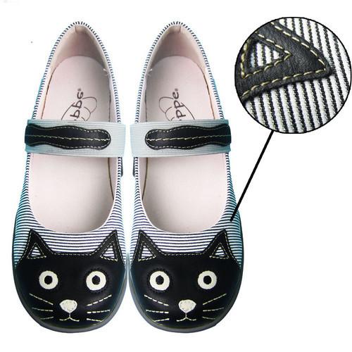 女裝便鞋 - 黑貓頭 - 24.5cm