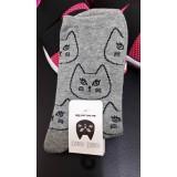 女裝短襪 - 瞪眼 - 灰色