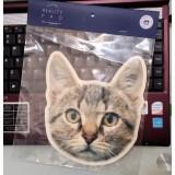 滑鼠墊-黑灰毛貓
