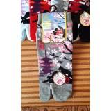 女裝短襪 - 賞櫻 - 灰色