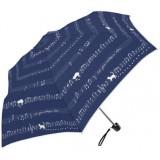 晴雨兩用縮骨遮 - 貓貓+五線譜 - 藍色