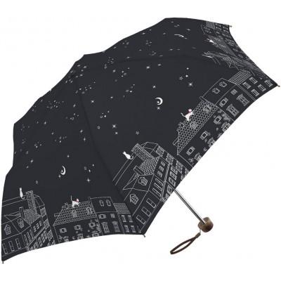 晴雨兩用輕便縮骨遮 - 星空下 - 黑色