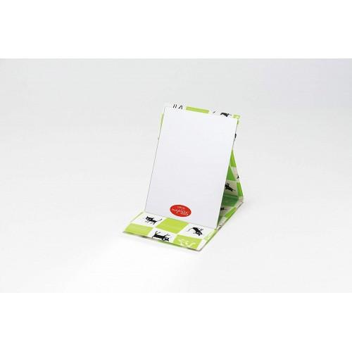 摺合式鏡 - 綠白格仔 - 日本製