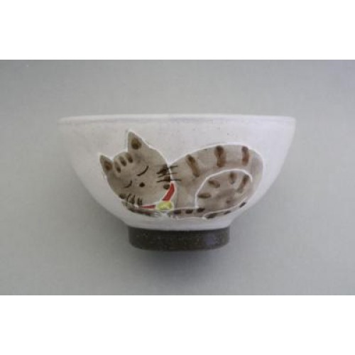 飯碗- 貓貓睡著了 - 日本製