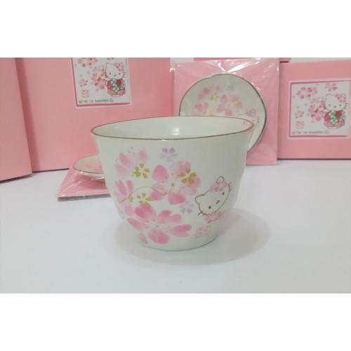 Hello Kitty 美濃燒櫻花係列茶杯 - 日本製