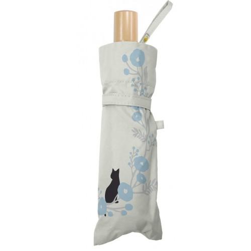 貓貓與花花晴雨兩用縮骨遮 - 米白色