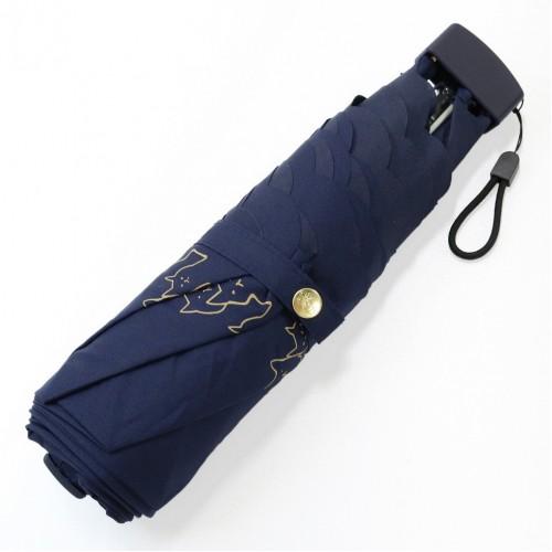 貓貓圍邊晴雨兩用縮骨遮 - 深藍色