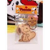 Snoopy木製鎖匙扣-日本製