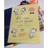 Snooopy A4文件夾 - Let's enjoy ourselves together