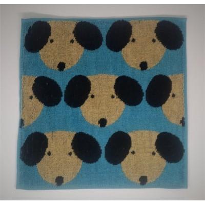 小毛巾 - 黑耳狗狗 - 藍色