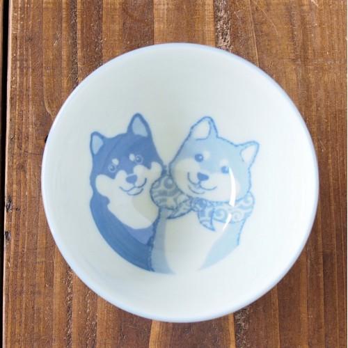 日本美濃燒柴犬飯碗 - 藍色 - 日本製