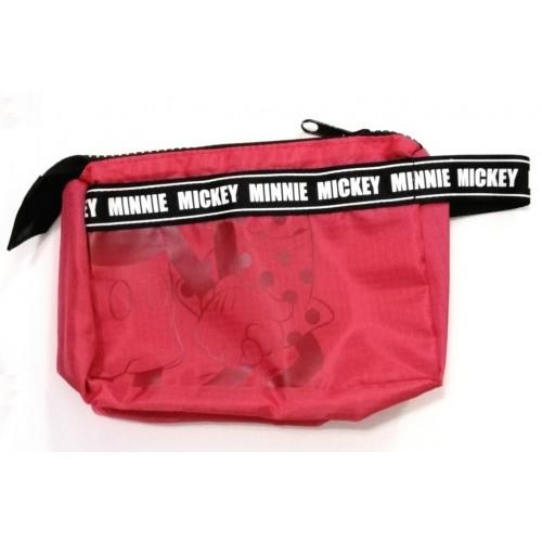 米奇+米妮化粧袋 - 紅色