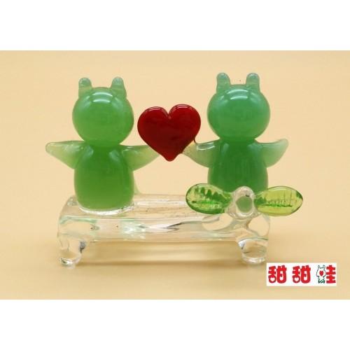 玻璃小擺設 - 情侶