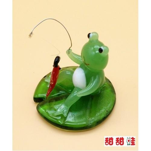 玻璃小擺設 - 釣魚
