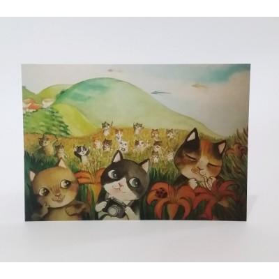 明信片 - 貓貓郊遊