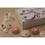日木製貓貓棉花糖 - 圓形 (2月25日23:00截止訂購, 數量有限)