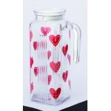 玻璃水瓶 - 紅心