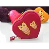 零錢包 - 貓頭鷹 - 粉紅色